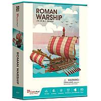 3D пазл CubicFun Римский Боевой корабль (T4032h)