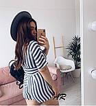 Женский комбинезон шорты / ромпер в полоску (в расцветках), фото 5