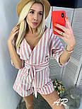 Женский комбинезон шорты / ромпер в полоску (в расцветках), фото 7
