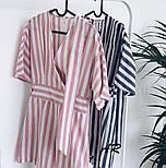 Женский комбинезон шорты / ромпер в полоску (в расцветках), фото 8