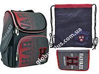 "Набор: рюкзак ортопедический + сумка для обуви + пенал «YES» ""Harvard"" H-11, 556159-1, фото 1"