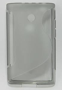 Чехол на LG Optimus L3 E400 TPU S формы Серый