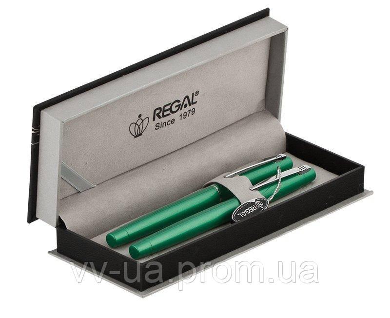 Комплект ручек Regal (перо+роллер) в подарочном футляре P, зеленый (R285422.P.RF)