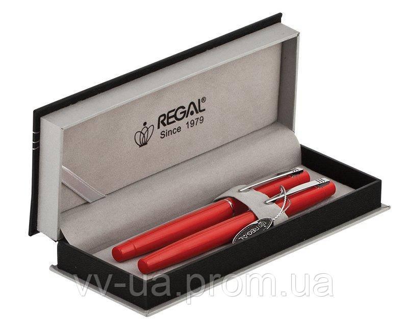 Комплект ручек Regal (перо+роллер) в подарочном футляре P, красный (R285205.P.RF)