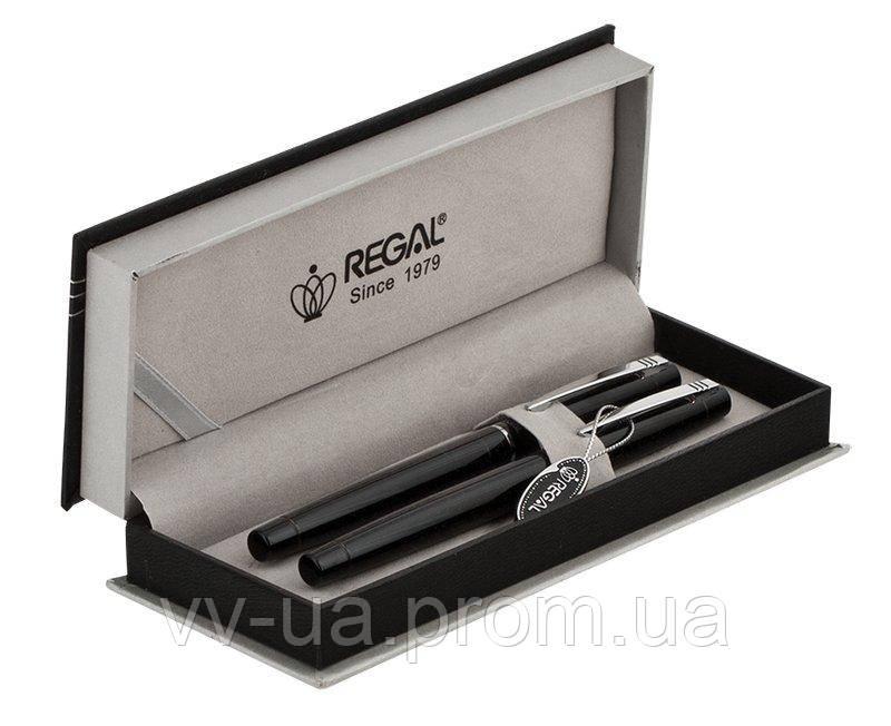 Комплект ручек Regal (перо+роллер) в подарочном футляре P, черный (R285200.P.RF)