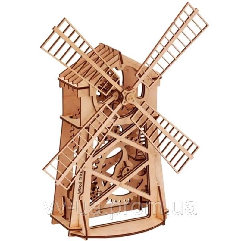 Механический 3D-пазл Wood Trick Мельница (4820195190012)