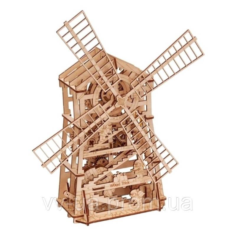 Механический 3D-пазл Wood Trick Механическая мельница (4820195190364)