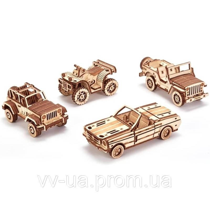 Механический 3D-пазл Wood Trick Набор машинок (4820195190494)