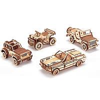Механический 3D-пазл Wood Trick Набор машинок