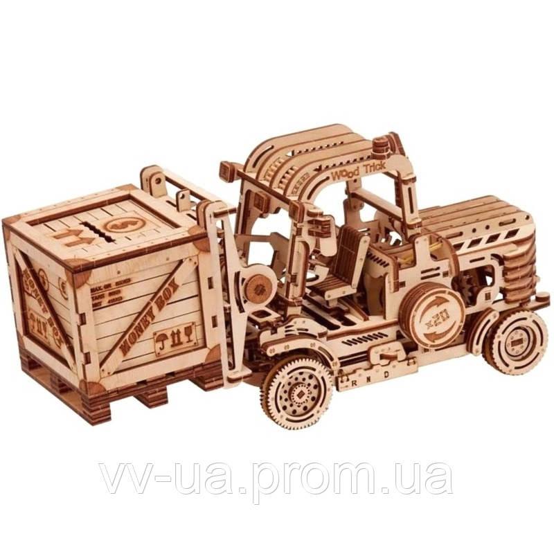 Механический 3D-пазл Wood Trick Погрузчик (4820195190234)
