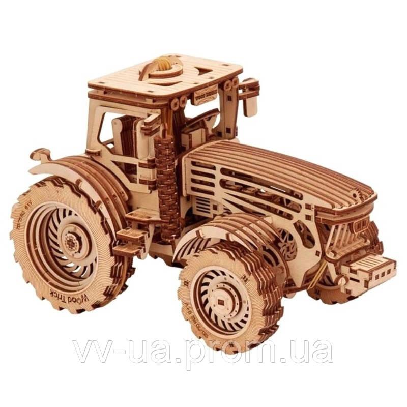 Механический 3D-пазл Wood Trick Трактор (4820195190333)
