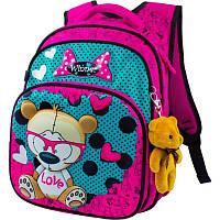 Рюкзак школьный 3D Winner-Stile 8015, розовый с голубым, фото 1