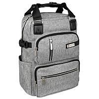 Рюкзак-сумка Optima с отделением для ноутбука, серый (O86242)