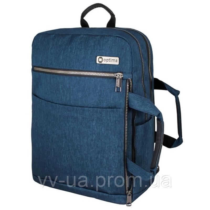 Рюкзак-сумка Optima с отделением для ноутбука, синий O97517-01