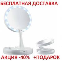 Magic Make Up Mirror Blister case косметическое круглое настольное зеркало для макияжа подсветкой