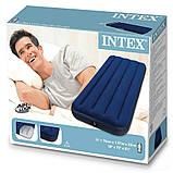 ✅Надувний матрац Intex 68950, 76 х 191 х 22 див. Одноместний, фото 4