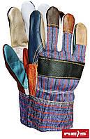 Перчатки утепленные комбинированные из кожи REIS RLKOPAS