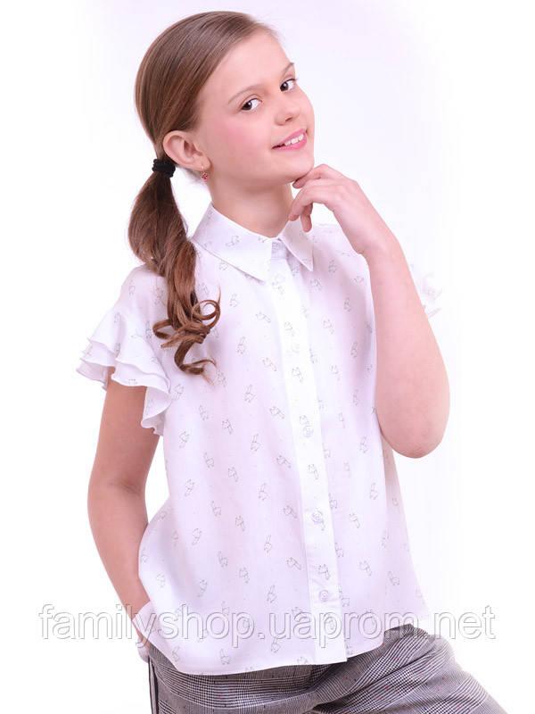 Школьная блузка с коротким рукавом на девочку подростка от производителя