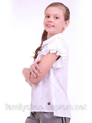 Школьная блузка с коротким рукавом на девочку подростка от производителя  , фото 2