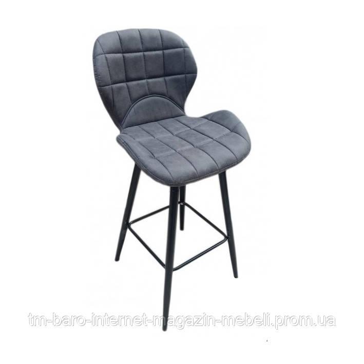 Барный стул Дайм Н серая экокожа