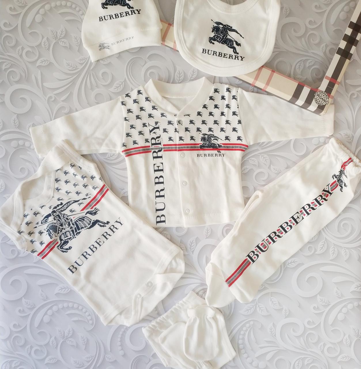 Подарочный набор для новорожденного Burberry,7 предметов.