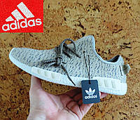 Кроссовки мужские Adidas Yeezy Boost. Кроссовки летние в стиле Адидас EQT. Реплика Серо-бежевые