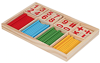 Набор деревянный счётный материал Счётные палочки Монтессори, фото 1