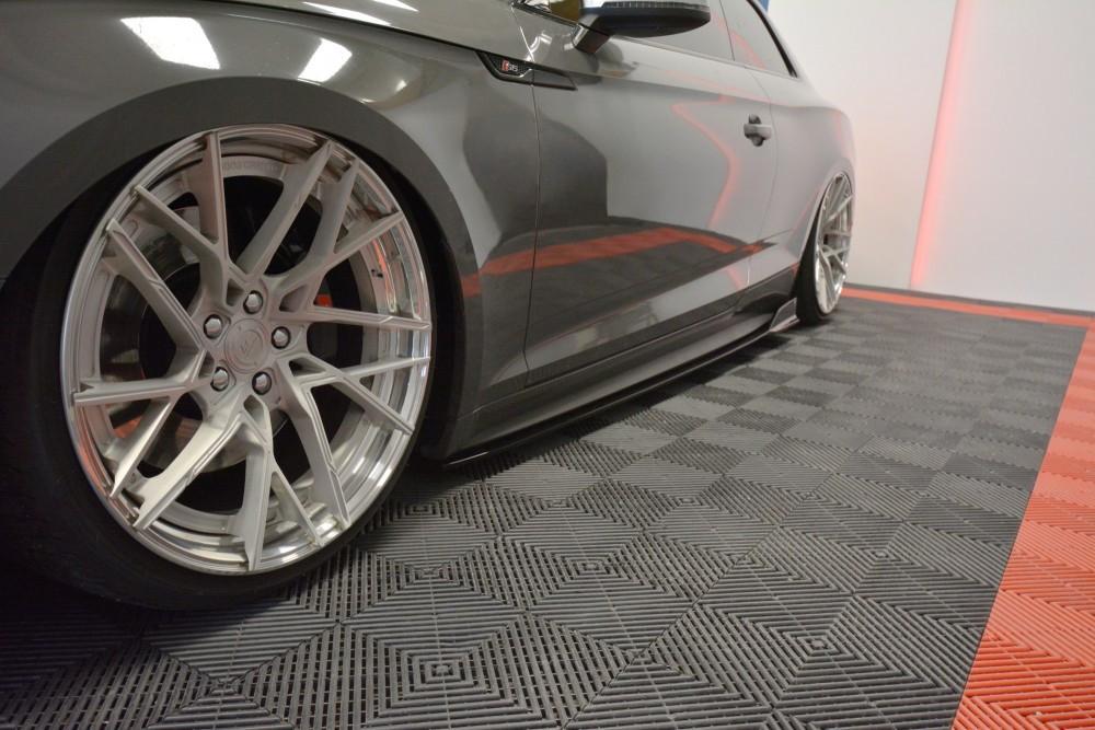Боковые диффузоры порогов накладки тюнинг Audi S5 F5