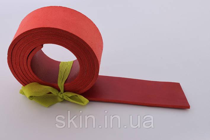Полосы из кожи растительного дубления красного цвета, толщина 4.0 мм, арт. СКУ 9002.1710, фото 2