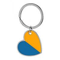 Брелок-серце металевий в національних кольорах