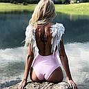 Купальник слитный с крыльями (розовый), фото 4