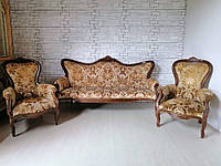 Комплект диван и два кресла, барокко, Италия