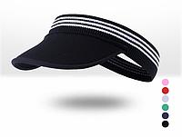 Повязка спортивная эластичная на голову от пота / визор с козырьком из неопрена «NorthFlag» E105-AA