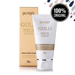 Омолаживающий крем с золотом для шеи PETITFEE Gold Neck Cream, 50 мл