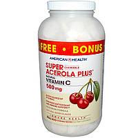 Витамин С (Vitamin C) со вкусом ацеролы American Health 500 мг 300  жевательных конфет