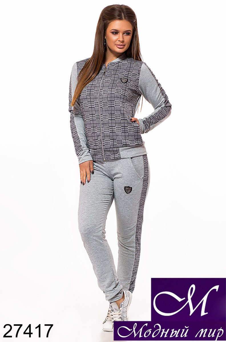 Стильный женский спортивный костюм в клетку (р. S, M, L) арт. 27417