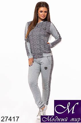 Стильный женский спортивный костюм в клетку (р. S, M, L) арт. 27417, фото 2