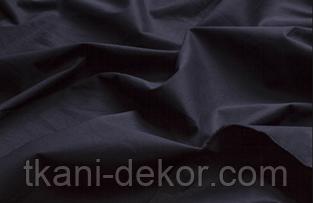 Сатин (бавовняна тканина) чорний однотон