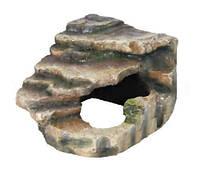 Декорация для террариума Грот со ступеньками 19х17х17 см