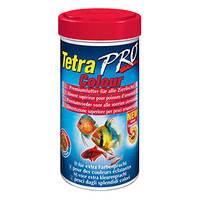 Корм для аквариумных рыб всех видов для усиления окраса Tetra Pro Colour, 250 мл
