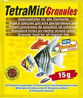 Корм для всех видов  рыб, гранулы Tetra Min Granules 15 гр