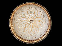 Настенно-потолочный светодиодный светильник хром/золото 60 см , фото 1