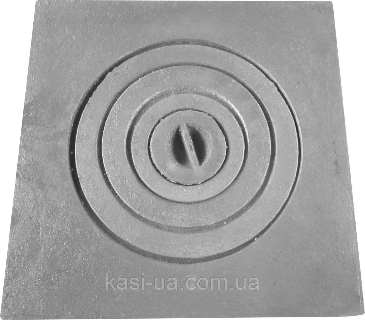 Плита чавунна пічна однокомфорочная для мангалу ПД-1 (400 х 400 мм)