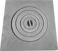 Плита чугунная печная однокомфорочная  для мангала ПД-1 (400 х 400 мм.)