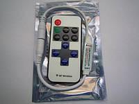 Одноканальный контроллер с радио пультом 12/24V; 2A/канал (мини корпус)
