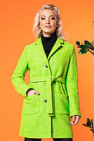 Салатовое короткое пальто