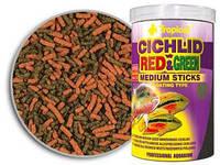 Корм для всеядных цихлид Tropical Cichlid Red & Green Medium Sticks, 250 мл