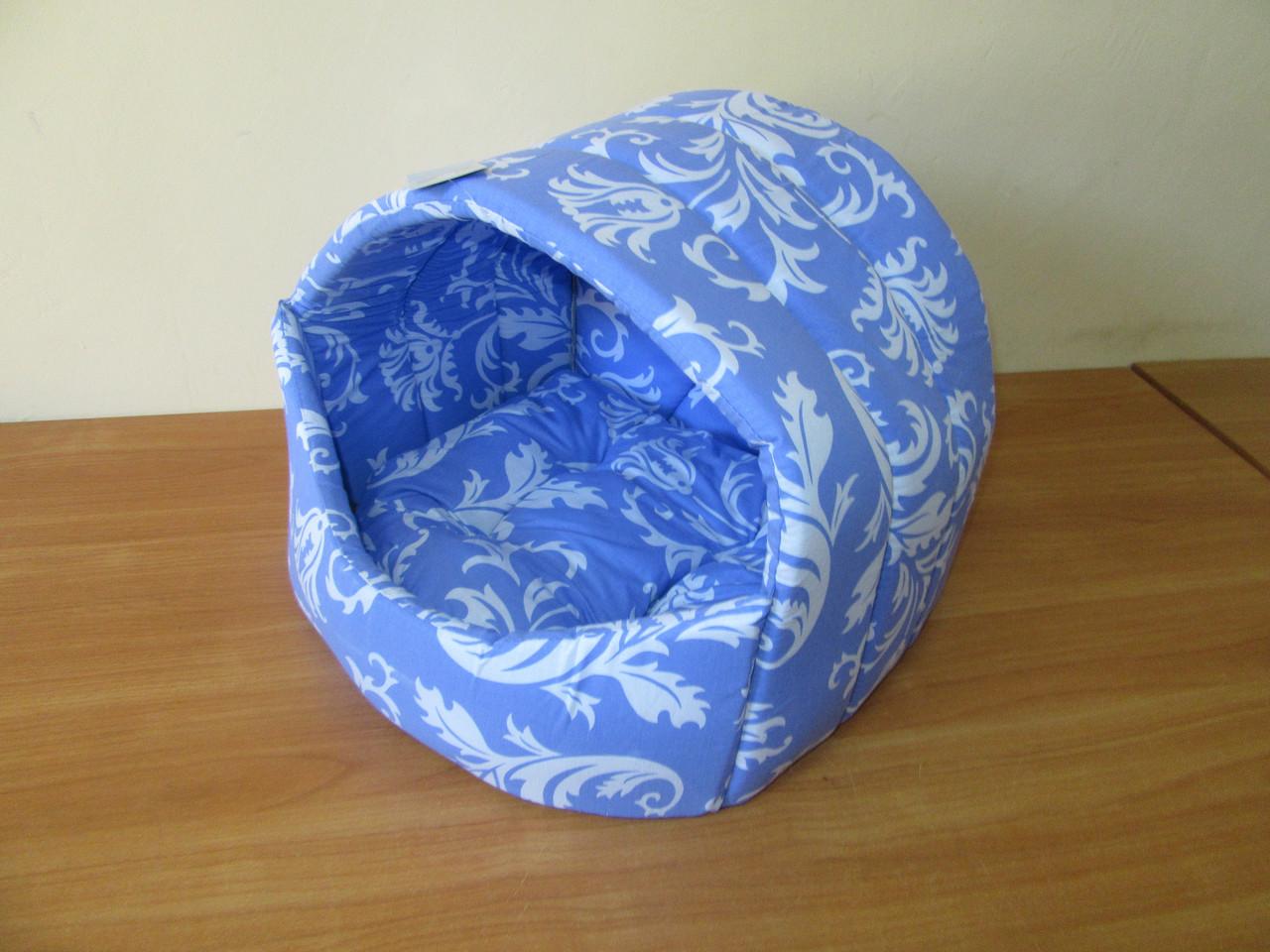 Лукошко (домик, мягкое место) №2 Collar 42х37х35см, синее
