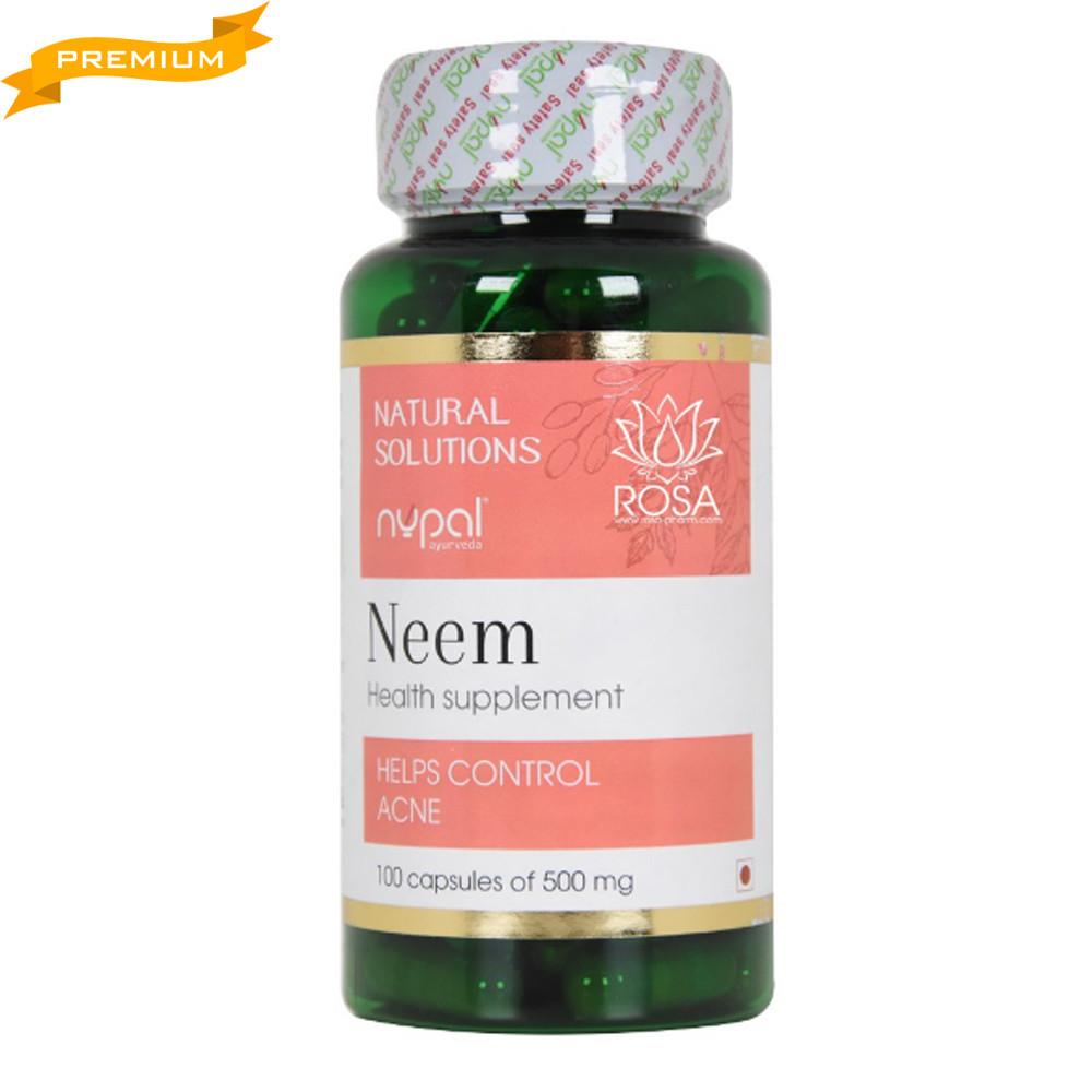 Ним Neem капсулы 100 штук (Nupal Remedies Индия аюрведа)