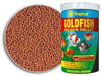 Корм для золотых рыбок и карпов кои Tropical Goldfish Color Pellet,  100 мл